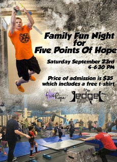 Five Points of Hope Event at The Ninja's Edge